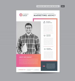 Corporate business flyer design | handout- und broschürenentwurf marketing sheet design