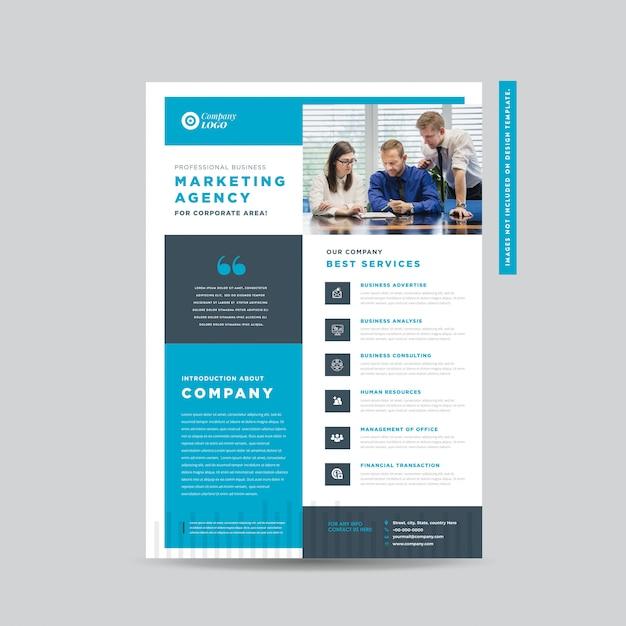 Corporate business flyer design   handout- und broschürenentwurf marketing sheet design