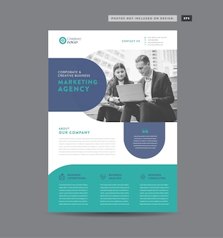 Corporate business flyer design handout und faltblattdesign marketingblattdesign