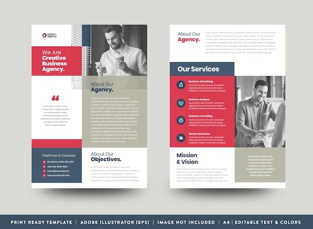 Corporate business flyer design oder handout und flyer design oder marketing sheet broschüre design