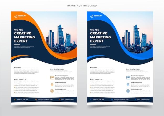 Corporate business flyer-design und broschüren-cover oder poster-vorlage premium-vektor template