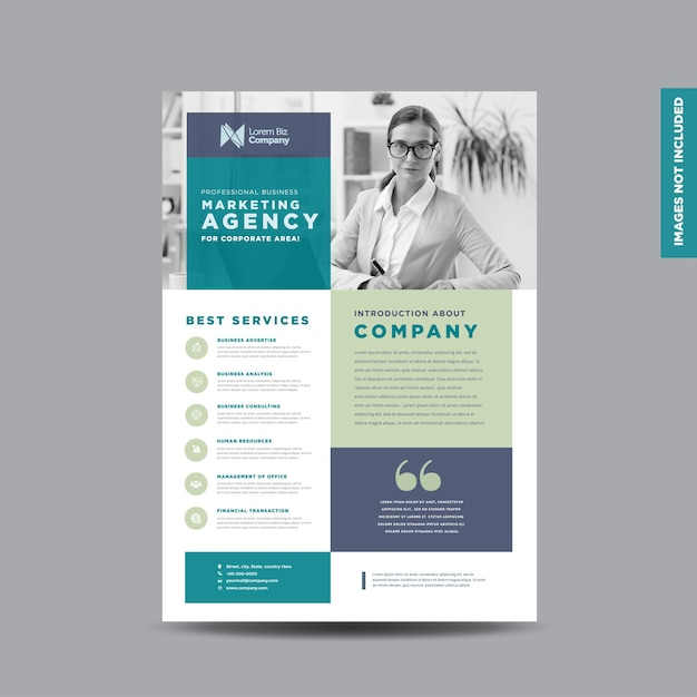 Corporate business flyer design-vorlage