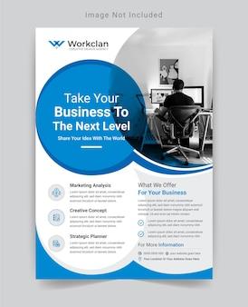 Corporate business flyer design-vorlage.