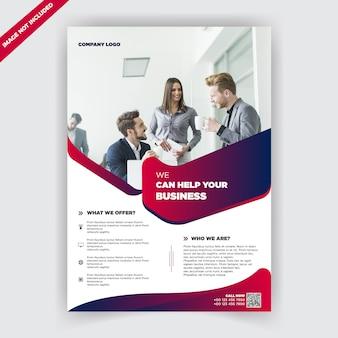 Corporate business flyer designvorlage