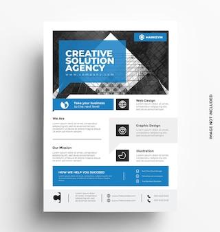 Corporate business flyer vorlage broschüre mit foto