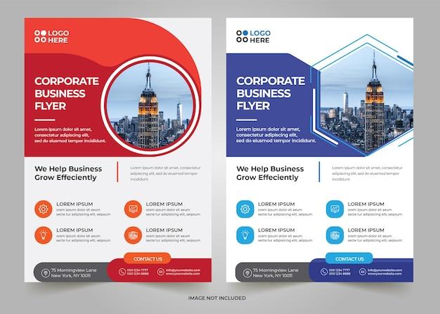 Corporate business flyer vorlage