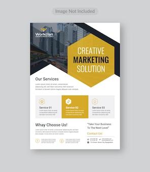 Corporate business flyer vorlage.