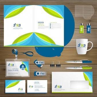 Corporate business folder technologie briefpapierunternehmen