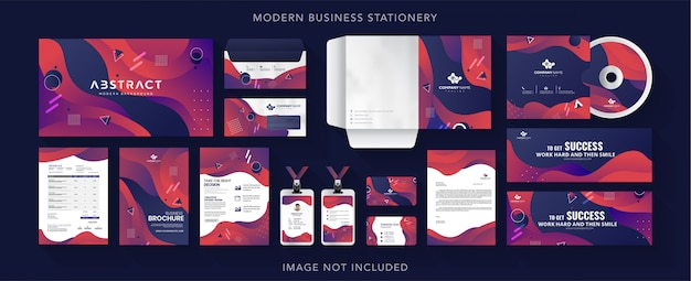 Corporate business identity briefpapier design