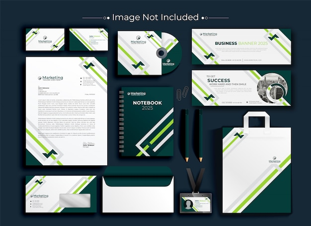 Corporate business identity briefpapier set