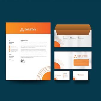 Corporate business identity design vektor vorlage briefpapier