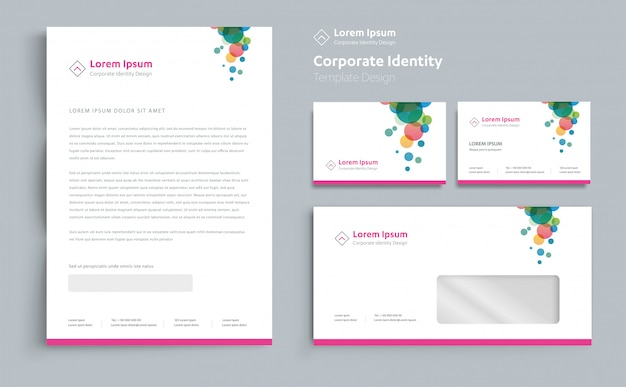 Corporate business identity template design vektor