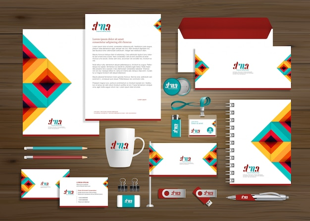 Corporate business identity-vorlage