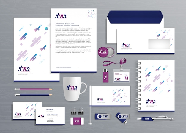 Corporate business identity-vorlage