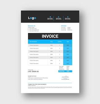 Corporate business invoice design