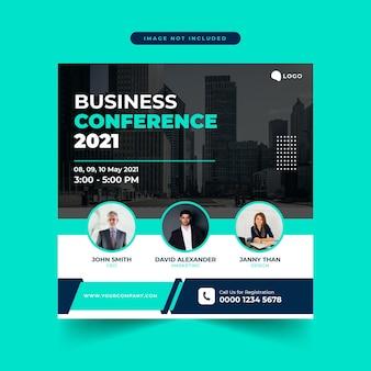 Corporate business konferenz social media post vorlage