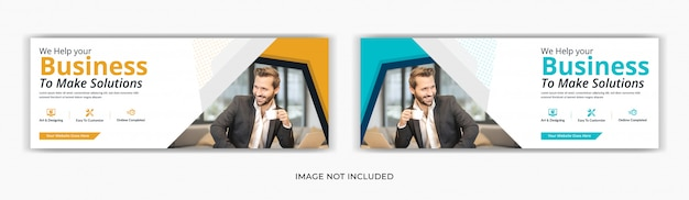 Corporate business marketing social media post facebook deckblatt timeline web ad banner design