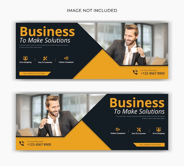 Corporate business marketing social media post facebook deckblatt timeline web ad banner design