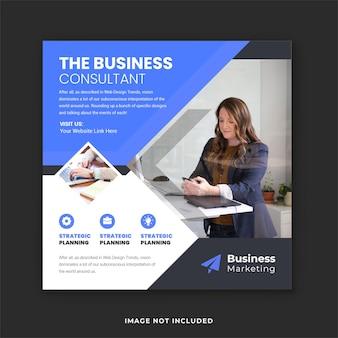 Corporate business marketing social media post und instagram flyer vorlage