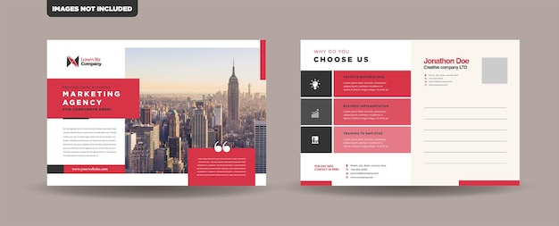 Corporate business postkarte design-vorlage