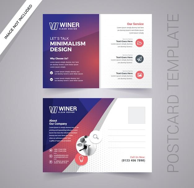 Corporate business postkarte