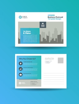 Corporate business postkarten design | direktwerbung eddm design Premium Vektoren
