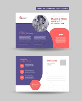 Corporate business postkarten-design