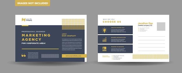 Corporate business postkarten-design
