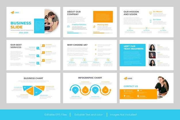 Corporate business powerpoint-präsentation oder präsentationsdesign für geschäftsfolien