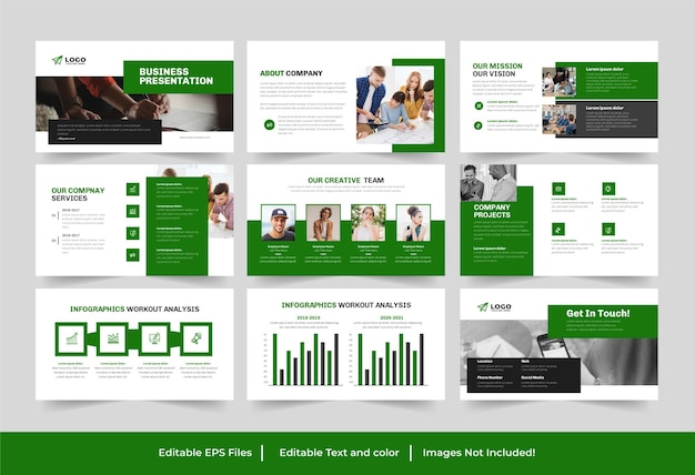 Corporate business powerpoint-präsentationsdesign