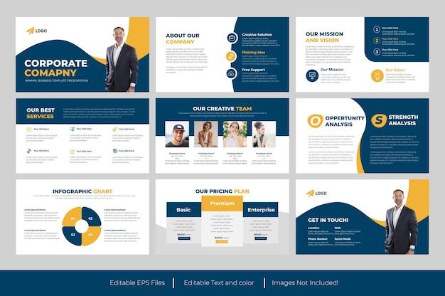 Corporate business powerpoint-vorlage