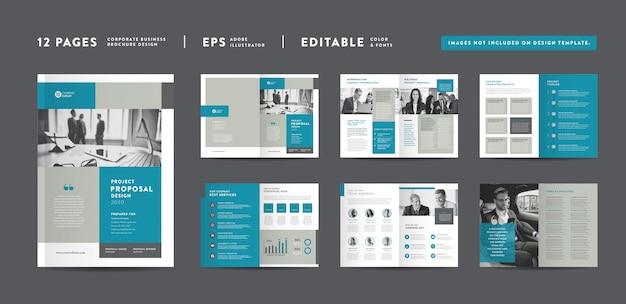 Corporate business project proposal design | geschäftsbericht und unternehmensbroschüre broschüren- und katalogdesign