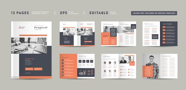 Corporate business project proposal design Premium Vektoren