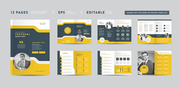 Corporate business project proposal design