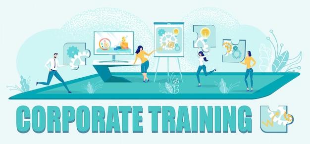 Corporate business schulungsprogramm für mitarbeiter