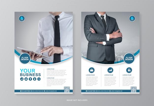 Corporate business seite a4 flyer design vorlage