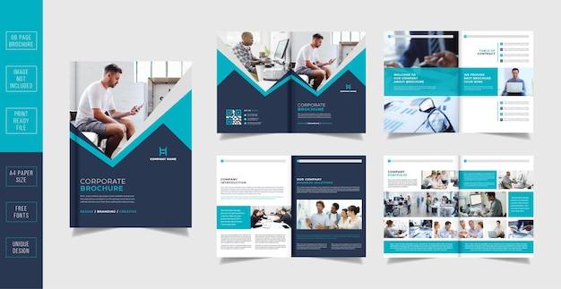 Corporate business seiten broschüren-design-vorlage