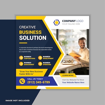 Corporate business social media instagram post banner vorlage