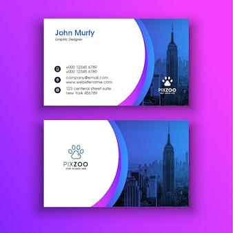 Corporate clean visitenkartenvorlage kostenlose psd