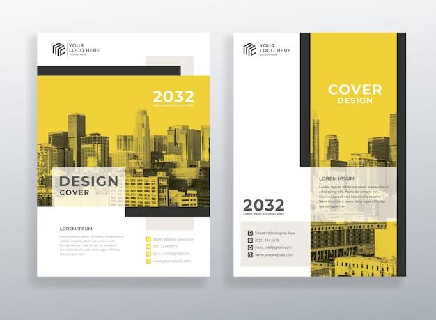 Corporate cover book design-vorlage mit a4-format