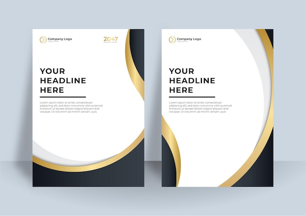 Corporate cover-design oder broschüren-vorlagenhintergrund für business-design. moderne business-flyer-layout-vorlage im a4-format. cover-design-jahresbericht mit abstrakten geometrischen elementen