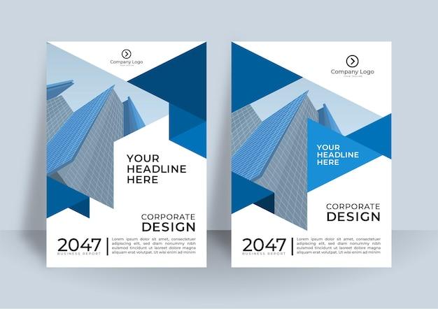 Corporate cover-design oder broschüren-vorlagenhintergrund für business-design. moderne business-flyer-layout-vorlage im a4-format.