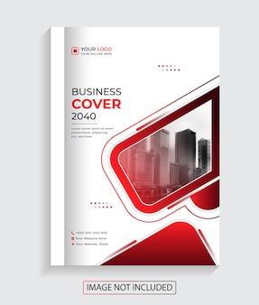 Corporate creative business book cover design premium-vektor