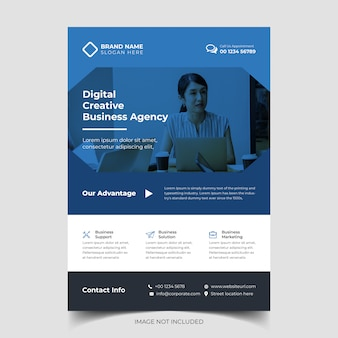 Corporate creative business flyer vorlage