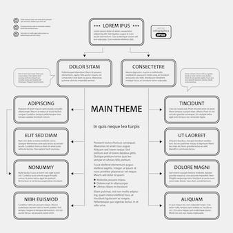 Corporate design vorlage auf weißem hintergrund. nützlich für werbung, präsentationen und webdesign.