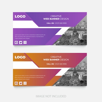 Corporate facebook seite cover template design