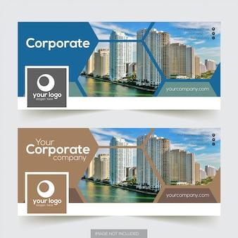 Corporate facebook timeline covervorlage