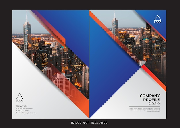 Corporate firmenprofil design cover