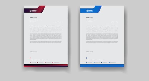 Corporate flyer-design und business-briefkopf-vorlagendesign