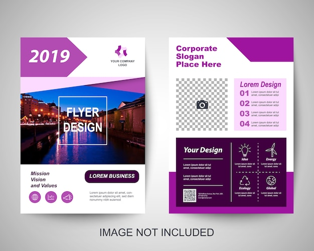 Corporate flyer design-vorlage